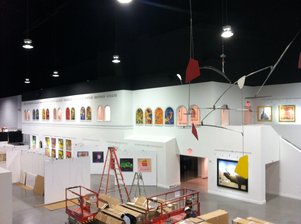 Martin-Lawrence Galleries Phase II - Setup progress