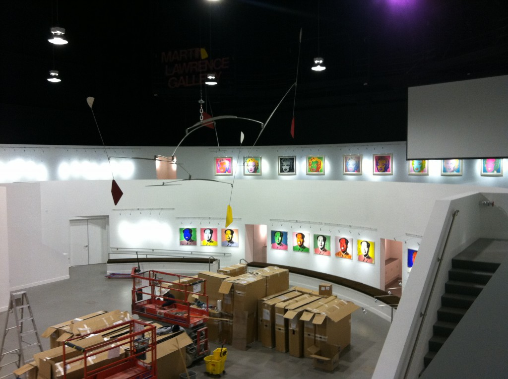Martin-Lawrence Galleries Phase II - Gallery setup east wall